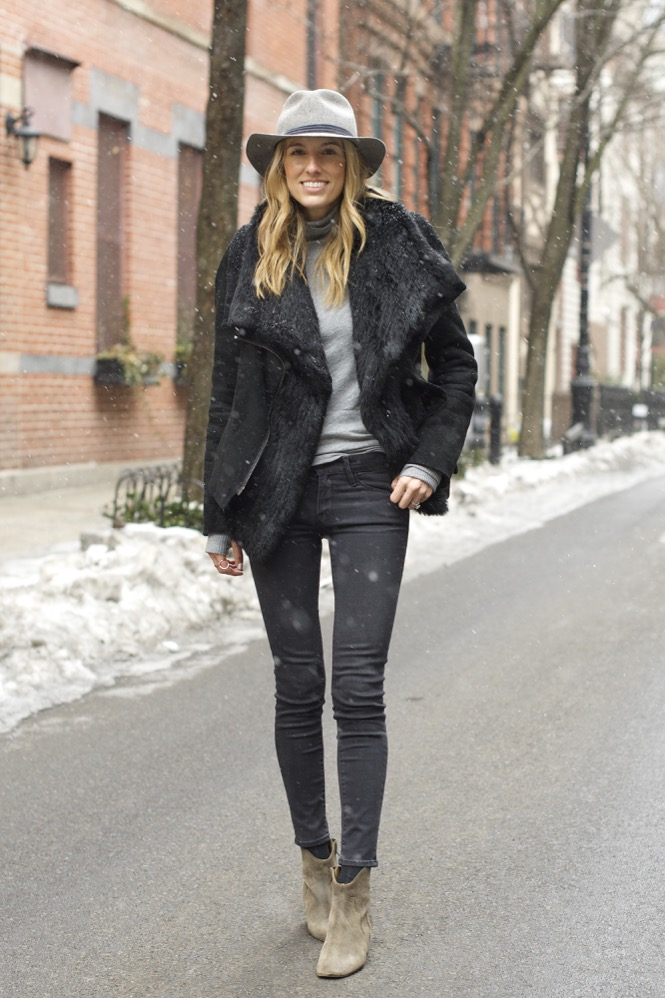 Winter Chic Style- Rag & bone hat, Isabel Marant boots 6