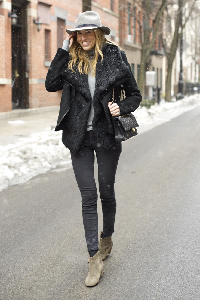 Winter Chic Style- Rag & bone hat, Isabel Marant boots 4