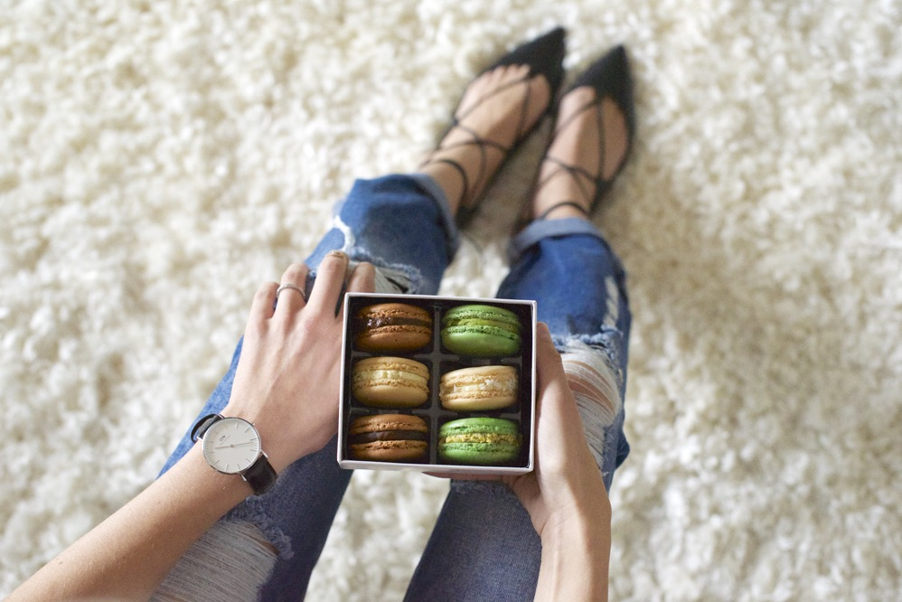 Zara Jeans, Macarons,Daniel Wellington Watch - 3