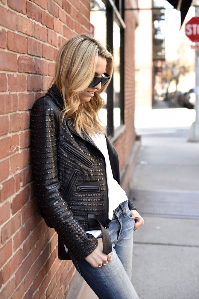 A.L.C. studded leather jacket, Valentino Rock studs - 09