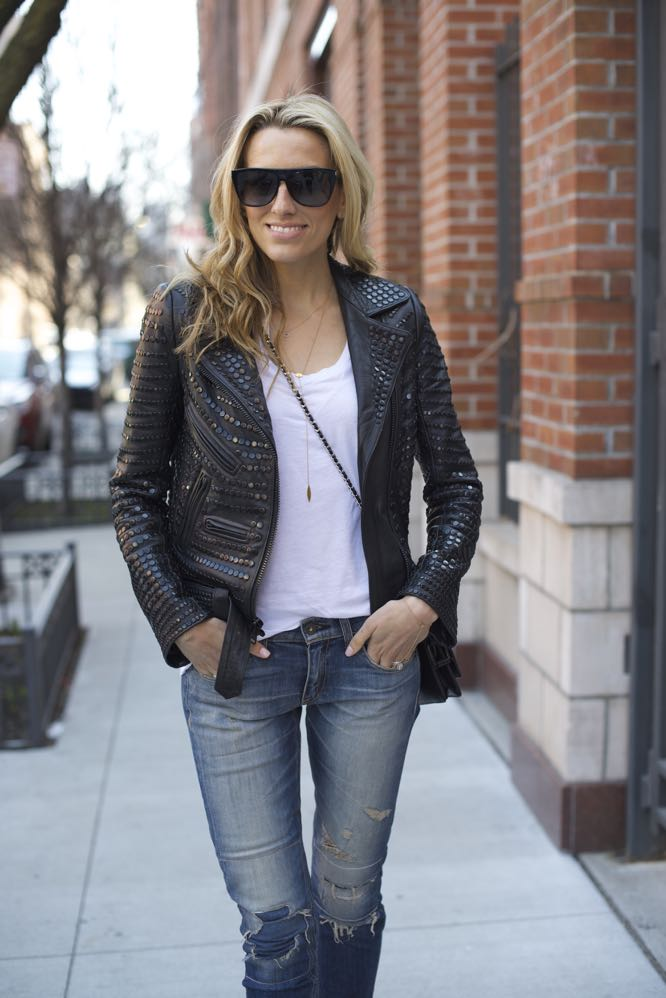 A.L.C. studded leather jacket, Valentino Rock studs - 06