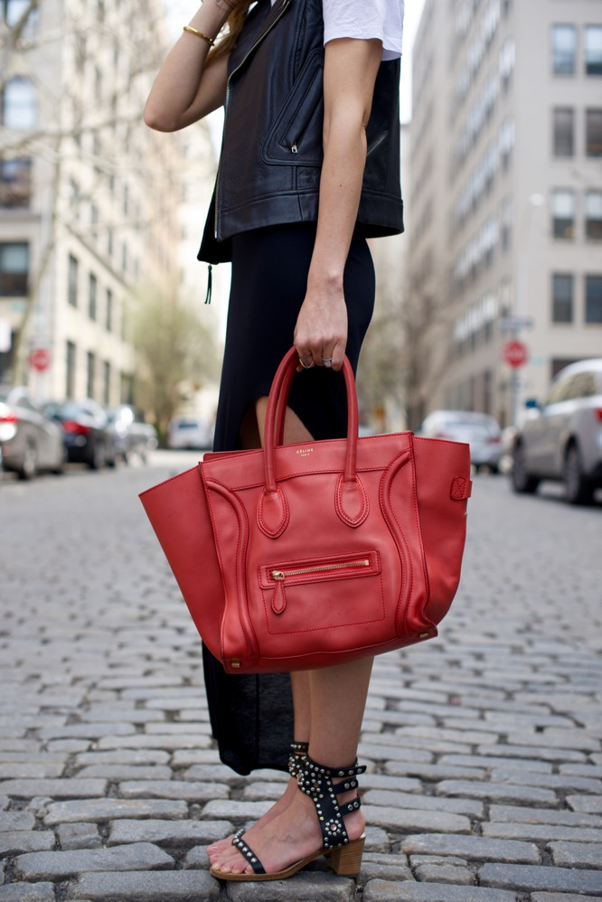 Celine Red Luggage Bag - 5 of 10