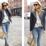 Street Style in Quilted Leather Jacket + Jeans