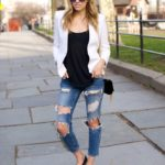 Ripped Jeans and a White Blazer