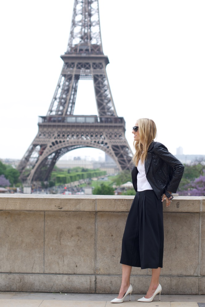 Eiffel Tower, Paris in Culottes, Street Style