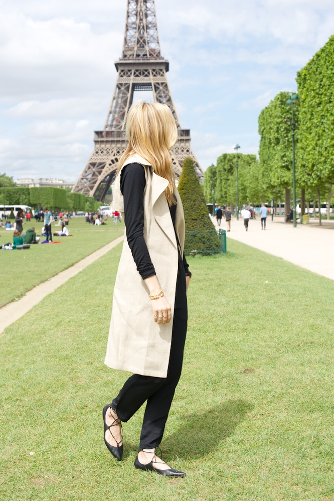 Theory Trench, Aquazzura shoes- Paris