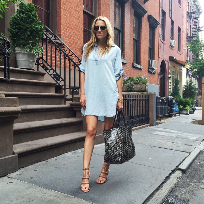 Instagram @lisadnyc- Shirt Dress- Goyard