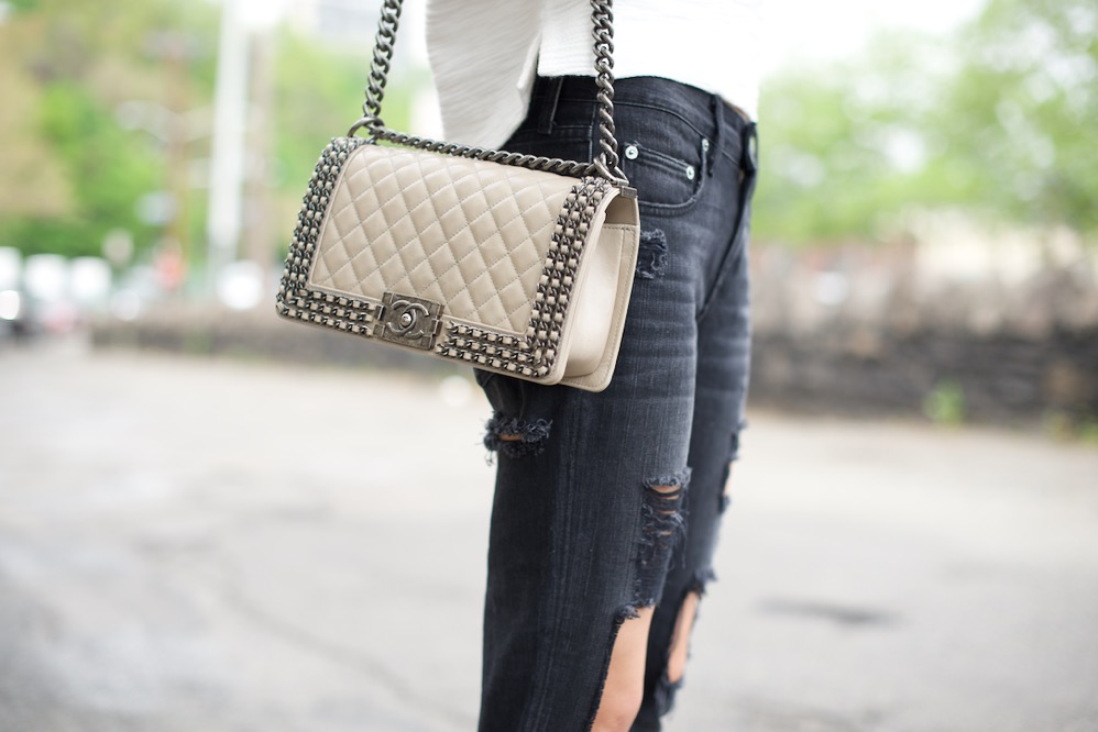 Ripped Jean - Chanel Boy Bag