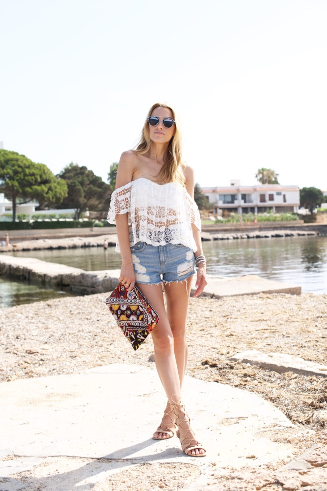 Boho Chic-Ibiza-Travel-Denim Shorts-Revolve