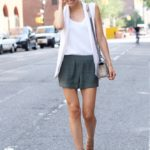 Silk Shorts & White Vest