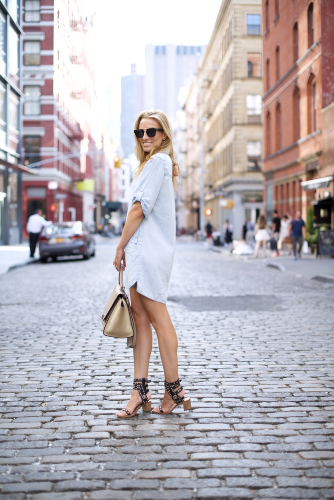 Bella Dahl Shirt Dress in Soho-NYC -Celine