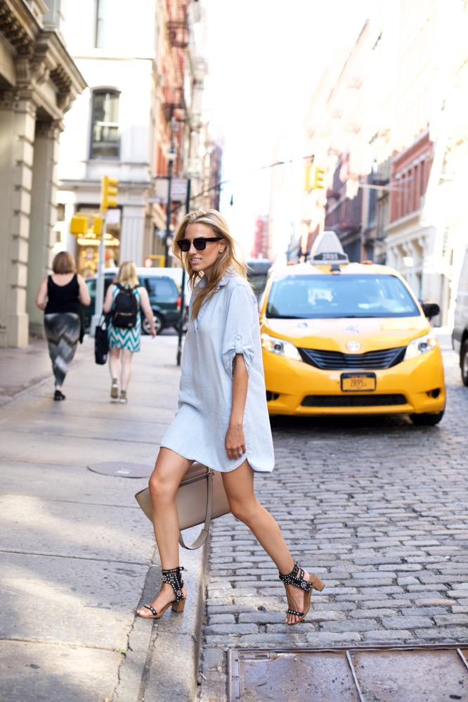 Bella Dahl Shirt Dress in Soho-NYC