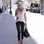 Soho Streetstyle in J Brand Jeans & White Tee