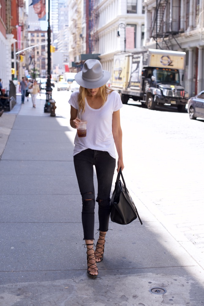 J Brand Jeans-NYC Street Style-Isabel Marant-Celine-White Tee
