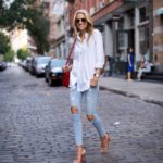 Classic White Button Down & Ripped Jeans
