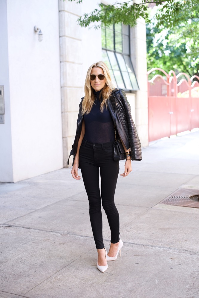 NYFW Day 2-Street Style-J Brand-A.L.C. Leather Jacket