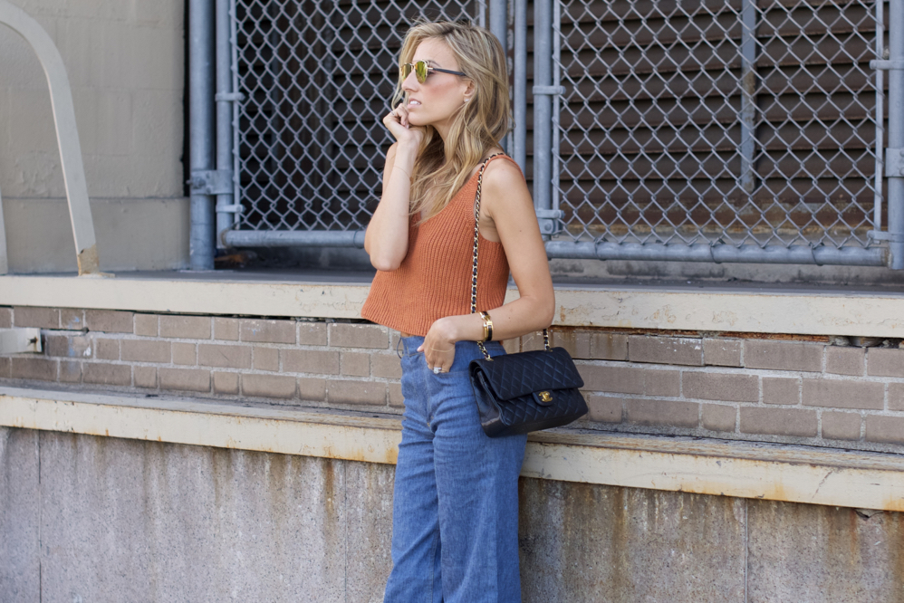 NYFW- 70s-Street Style, Flared jeans