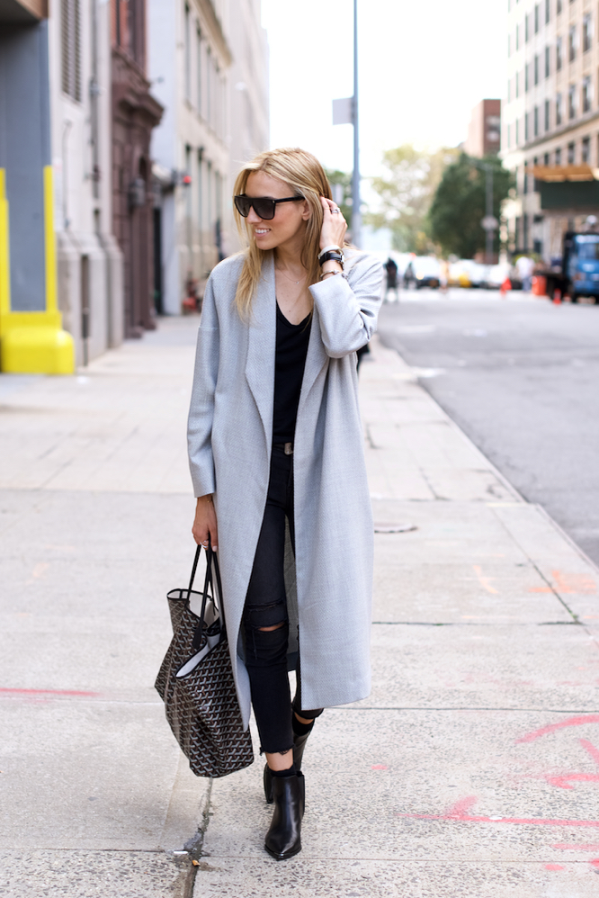 Grey Coat, Jawbone UP, Acne Boots