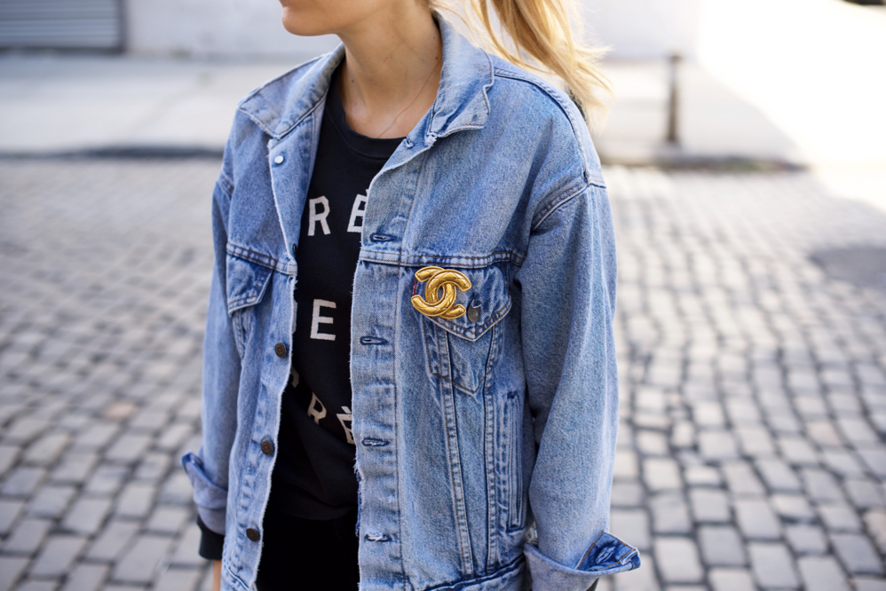 Vintage Levi's Jacket and Chanel Brooch