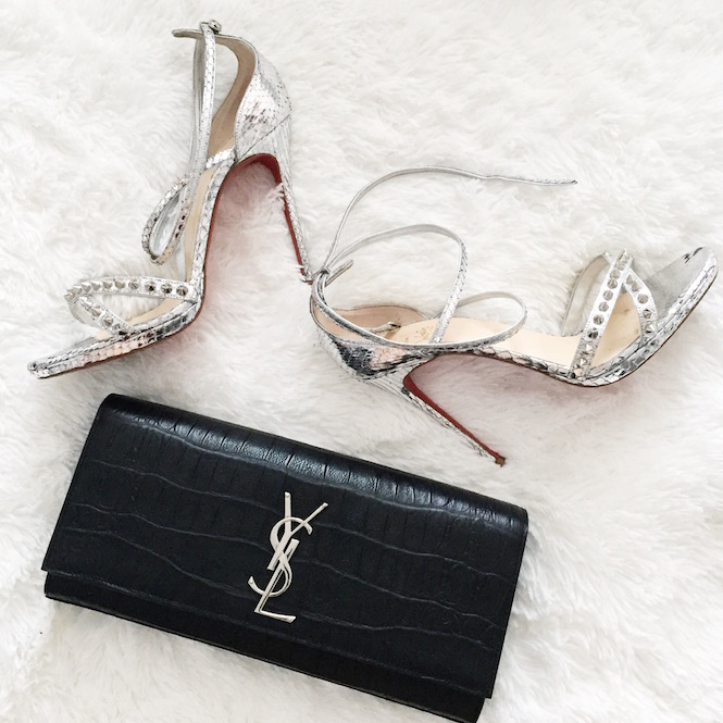 Wedding-Saint-Laurent-Clutch-Christian-Louboutin-Shoes