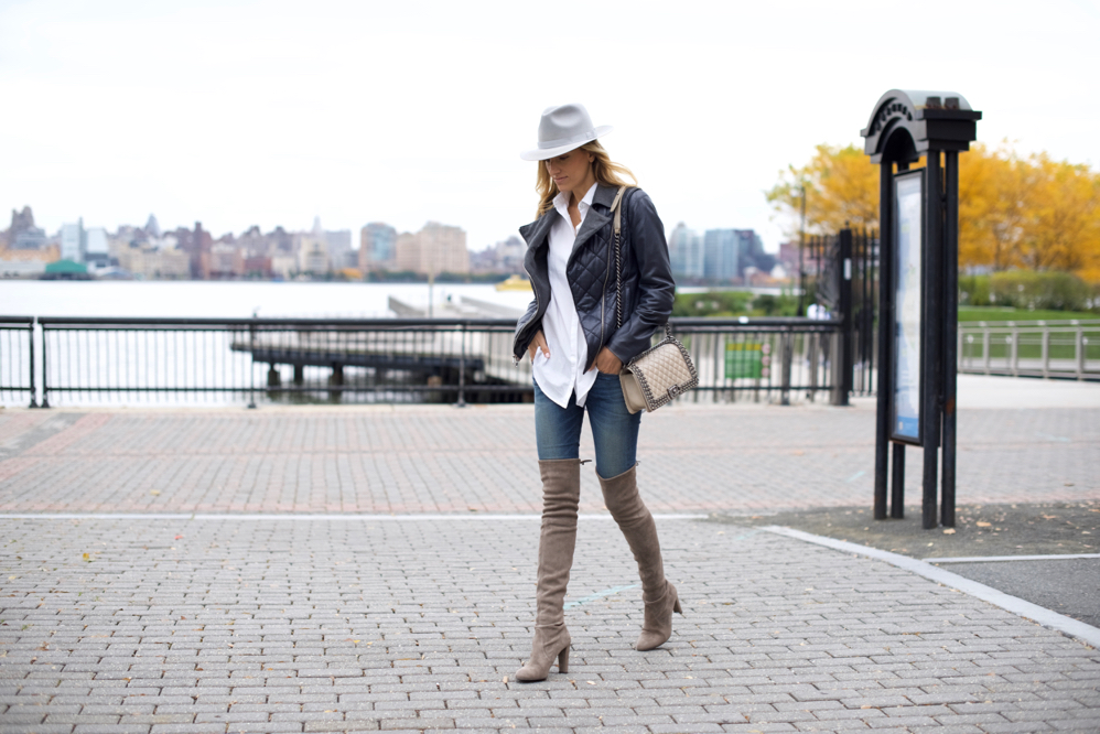 Weekend Attire- NYC StreetStyle-OOTD-OTK boots