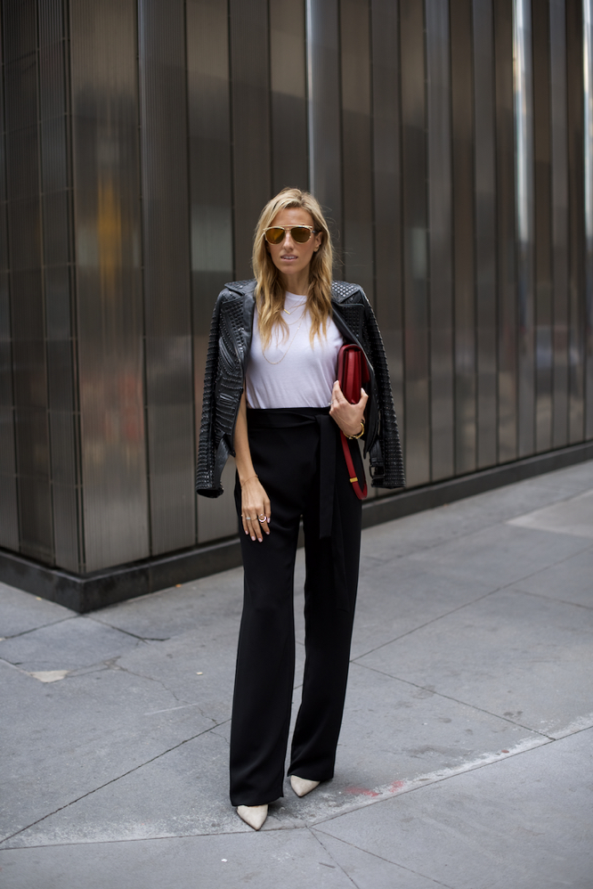 Zara Wide Leg Pants-NYC Street Style-Celine Box Bag