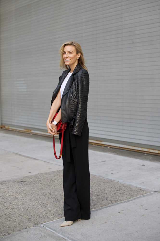 Zara Wide Leg Pants-NYC Street Style-Celine Box Bag-Dior Sunglasses