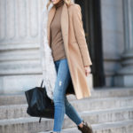 Camel with Faux Fur Stole