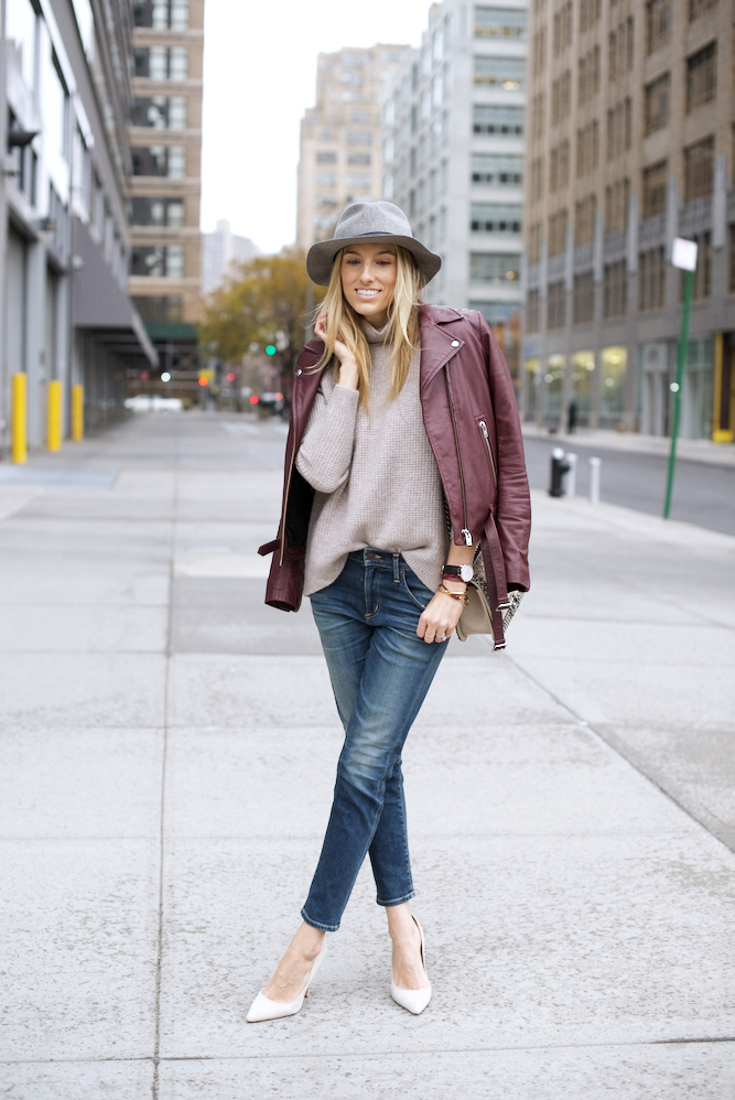 Girlfriend Jeans-Madewell Sweater-Nude Pumps-NYC Style - 2 of 11