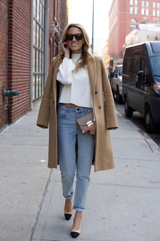 Chanel Slingbacks- NYC Street Style- Alexander Wang Jeans - 3 of 13