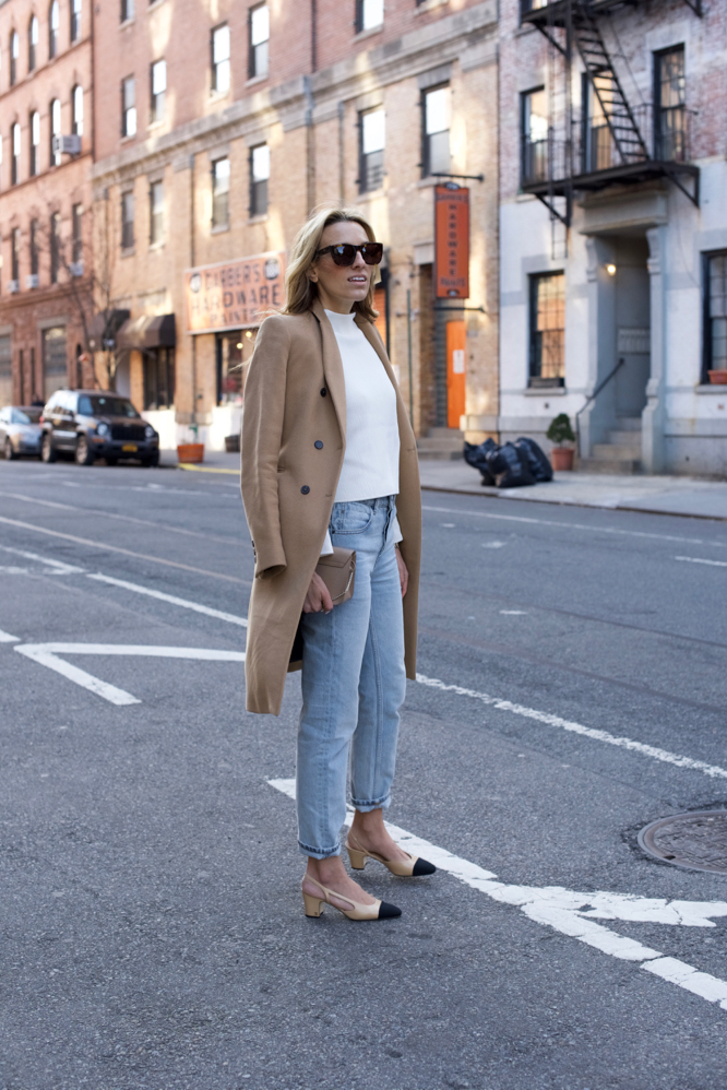 Chanel Slingbacks- NYC Street Style- Alexander Wang Jeans - 4 of 13