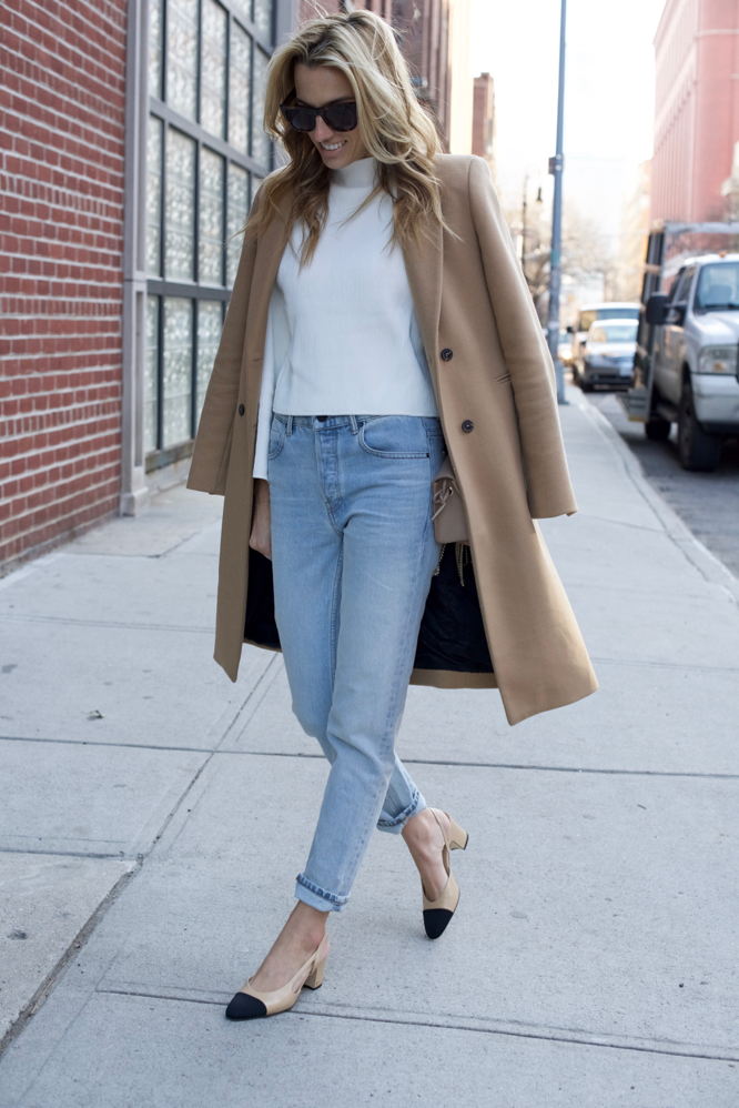 Chanel Slingbacks- NYC Street Style- Alexander Wang Jeans - 5 of 13