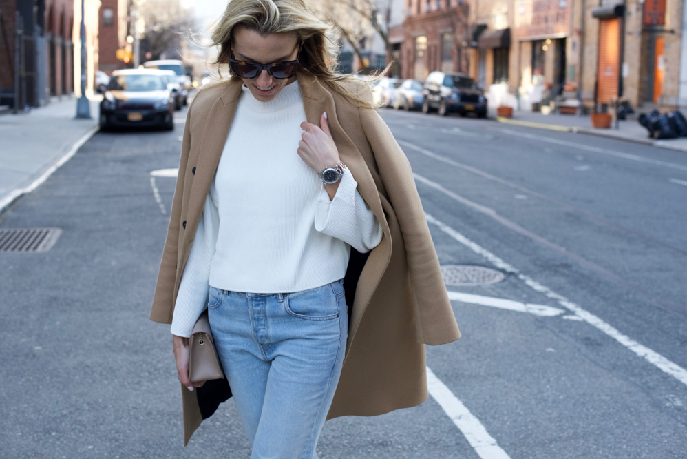 Chanel Slingbacks- NYC Street Style- Alexander Wang Jeans - 8 of 13