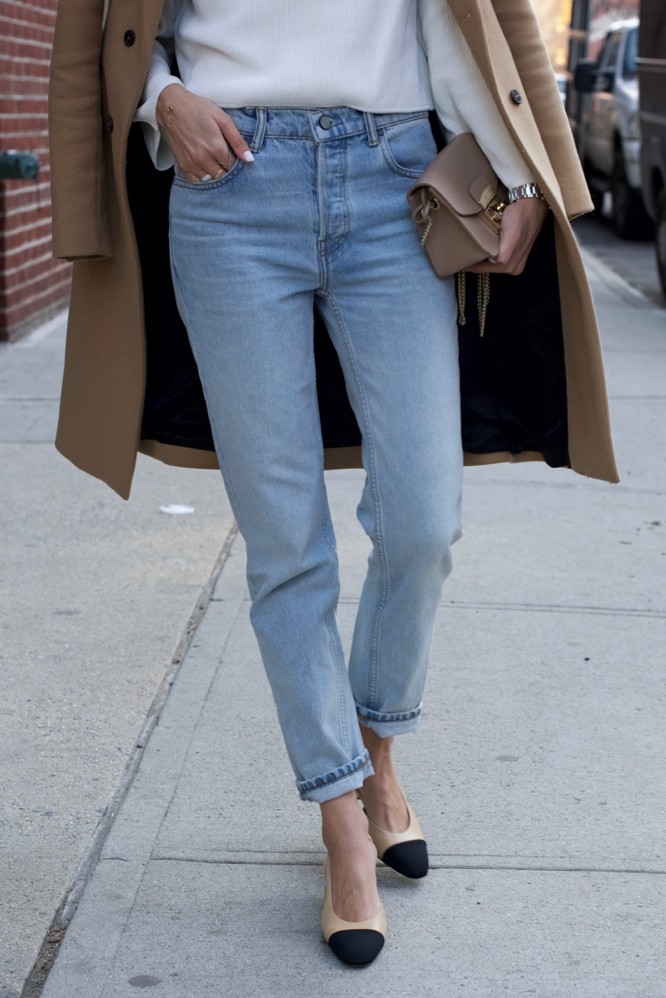 Chanel Slingbacks- NYC Street Style- Alexander Wang Jeans - 9 of 13