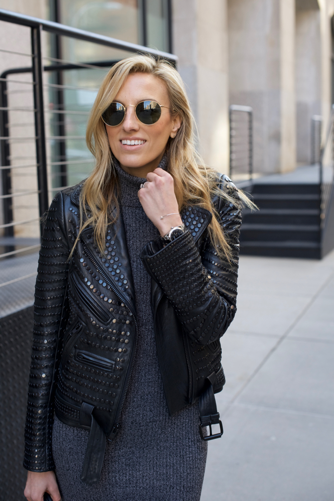 Sweater Dress-Moto Jacket-Aquazzura-Celine-NYC