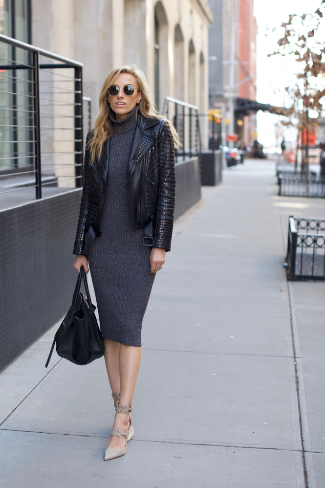 Sweater Dress-Moto Jacket-Aquazzura-Celine - 3 of 11