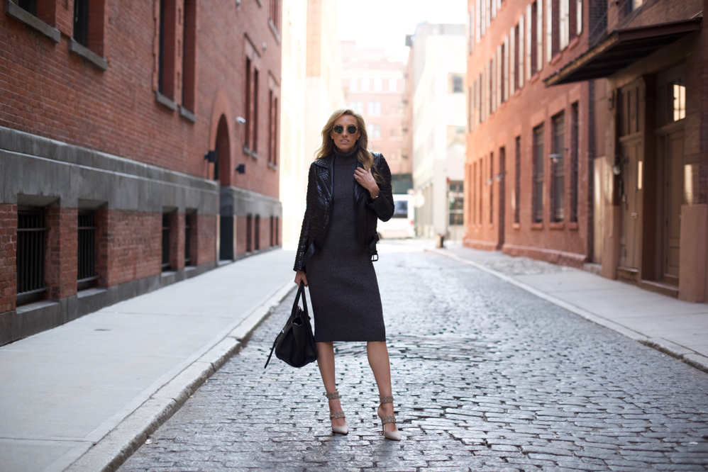 Sweater Dress-Moto Jacket-Aquazzura-Celine