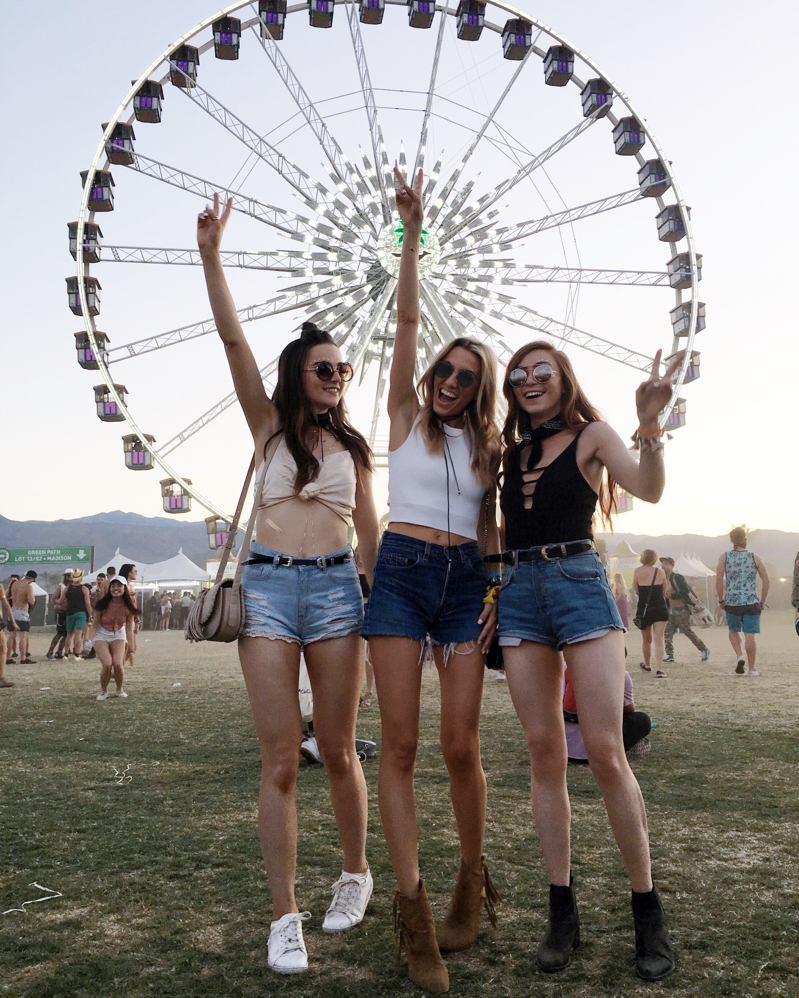Squad, Friends at Coachella, Coachella 2016, Sunset