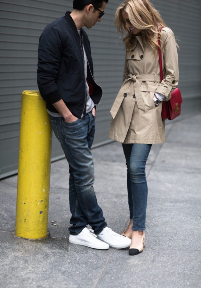 Vince Camuto Outerwear- Couple Fashion-NYC Street Style- Spring-TrenchCoat