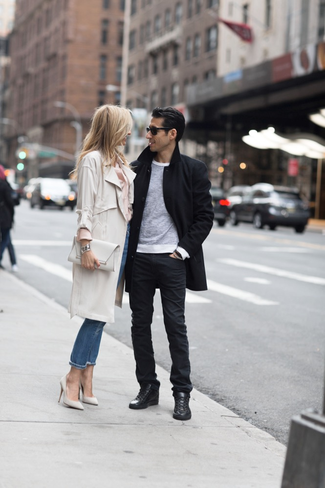 Vince Camuto-Trench Coat-OOTD-Levis-Couple Fashion