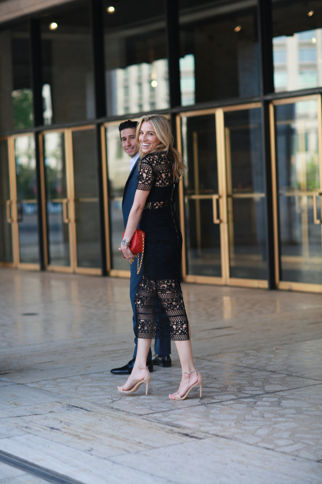 Couple Fashion-Express-NYC Ballet-Lincoln Center-NYC Date NIgght Outfit-Lace Dress