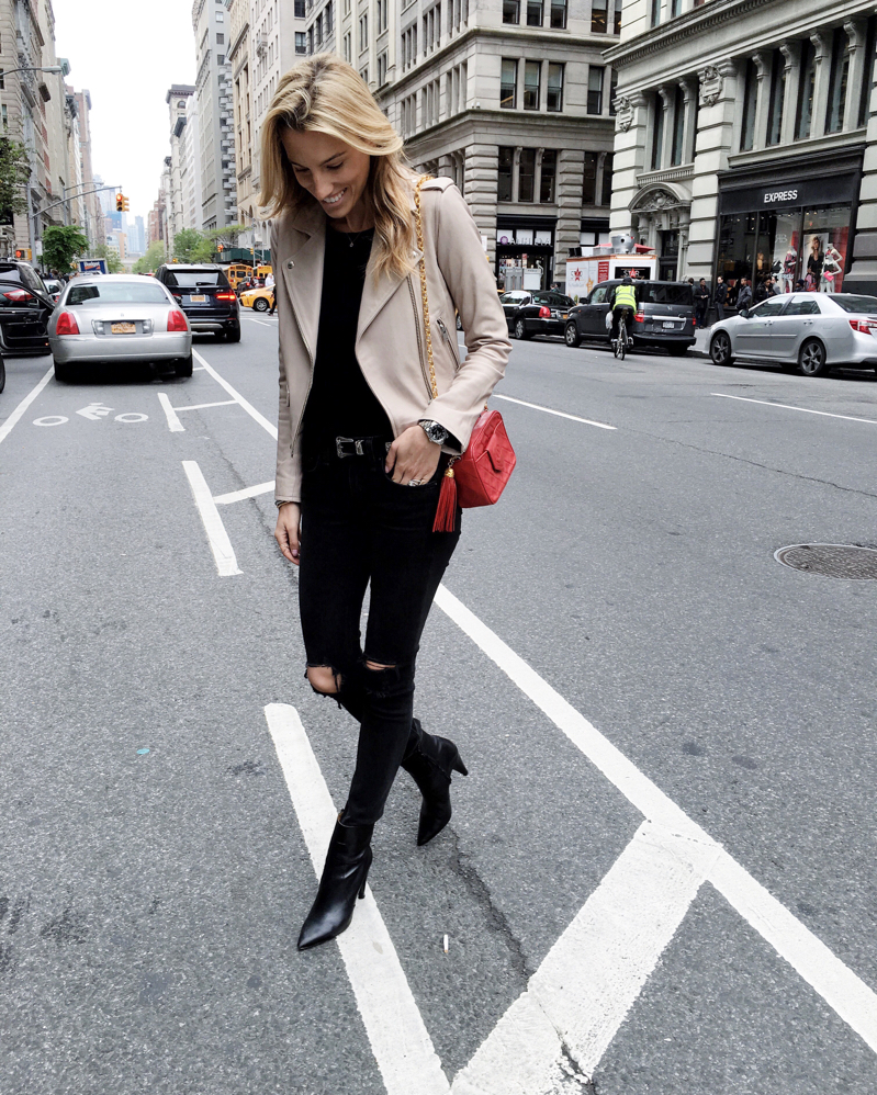 NYC Street Style, Leather Jacket