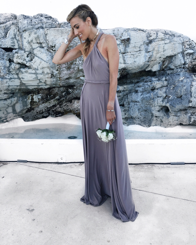Wedding, Cancun, Mexico, Bridesmaid Dress, Braid Hair, Choker