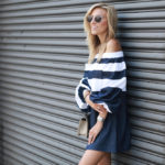 Denim & Twill Off the Shoulder Dress