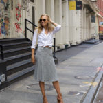 Striped Skirt & Oxford Shirt in Soho