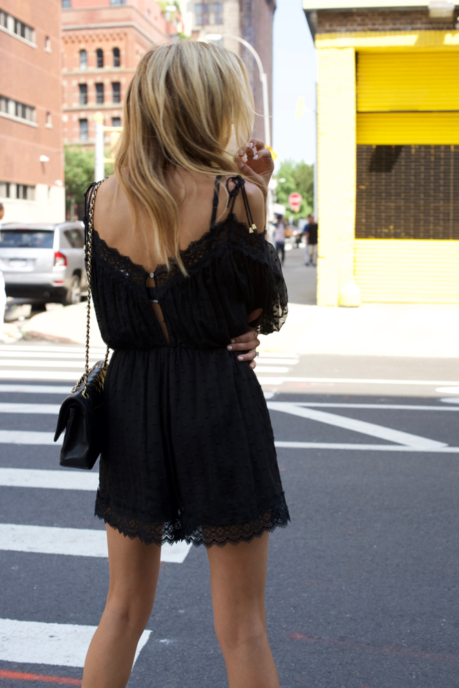 Zimmerman Romper-Aquazzura Wild Thing Sandals-Chanel bag - 4 of 15