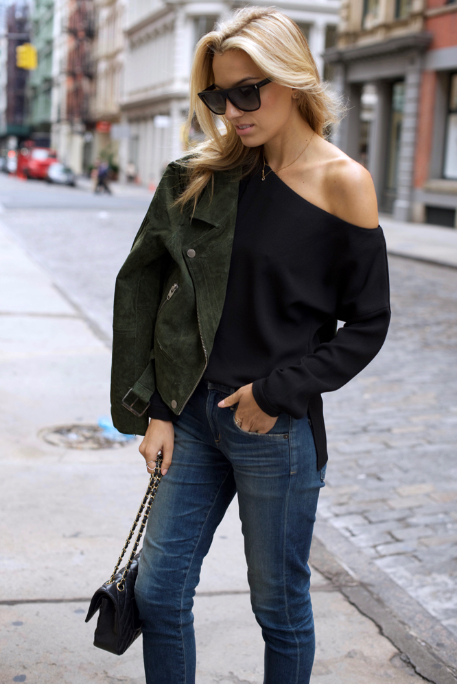 One Shoulder Top, Tibi, Netaporter, Citizens of humanity jeans, Chanel bag