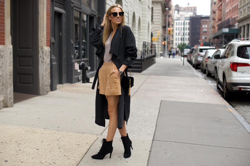 Suede Skirt,Fall Outfit, HauteLook