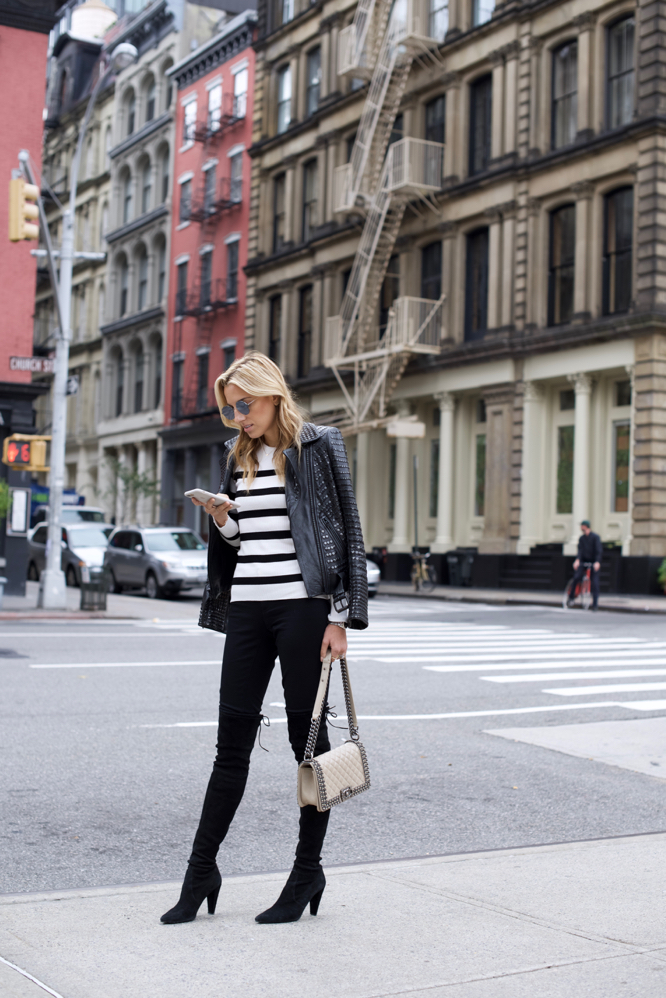 INC, model Off-Duty, Collaborations, Stripes, OTK boots