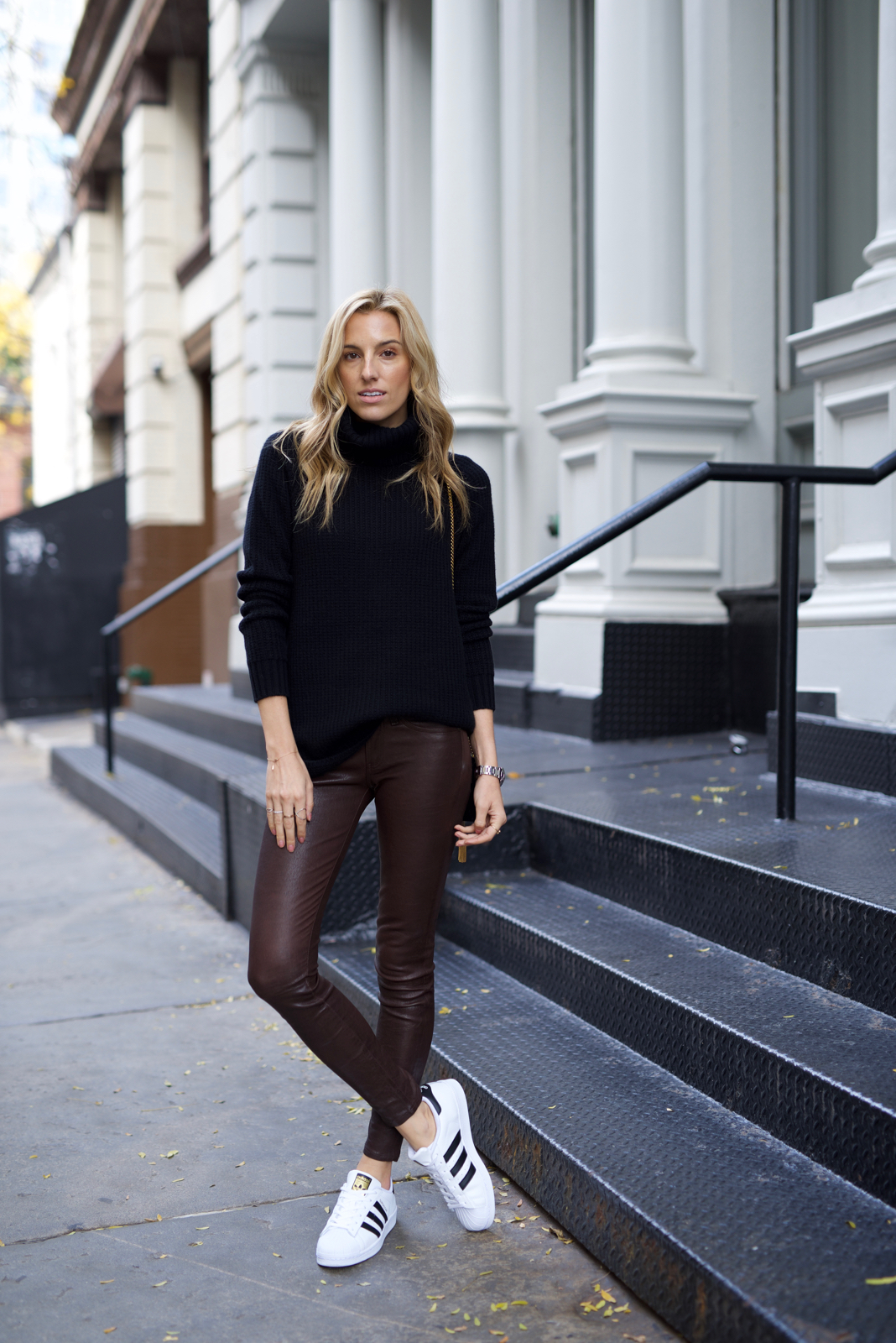 Must-have leather pants, Holiday gift guide, Black Friday, Saint Laurent Velvet bag